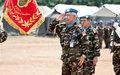 Remise de Médailles de l'ONU a Bangui, aux éléments de l'Unité de Gardes marocaines de la MINUSCA