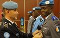28 Casques bleus du contingent ivoirien de la MINUSCA reçoivent la médaille de l'ONU