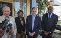 Arrivée du Commissaire à la paix et à la sécurité de l'Union africaine (UA), Ambassadeur Smail Chergui, et du Secrétaire général adjoint des Nations Unies aux opérations de paix, Jean-Pierre Lacroix