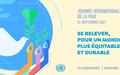 Message du Secrétaire général : Journée internationale de la paix 21 septembre