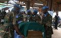 Les adieux de la MINUSCA au Sergent-chef Derrick Sichilyango de la Zambie