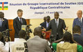 The International Support Group for Central Africa discusses ways and means for implementation of Peace Agreement