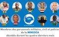 Les hommages de la MINUSCA à 9 membres de son personnel