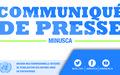 La MINUSCA condamne fermement l'attaque contre les casques bleus dans le centre de la République centrafricaine