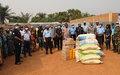 Des produits de première nécessité pour 217 déplacés du 6earrondissement de Bangui