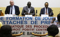 Permettre aux journalistes centrafricains de s'adapter aux procédures judiciaires