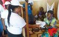 La solidarité des Volontaires de l'ONU aux enfants hospitalisés à Bambari