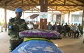 MINUSCA pays tribute to fallen peacekeeper