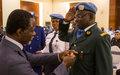 Le Bénin honoré à travers  ses policiers  déployés au sein de la MINUSCA