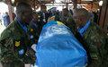 Les adieux de la MINUSCA aux casques bleus Nouh Mahmoud et Jean Bosco Hategekimana