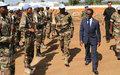 Onanga-Anyanga  à Bouar pour réaffirmer l'importance de protéger les personnes vulnérables