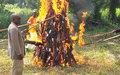 La « flamme de la paix » brûle à Berberati mettant fin au programme CVR