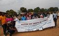 Des ex-combattants à l'école de l'Accord de paix et des droits de l'Homme dans la Nana-Mambéré