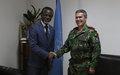 Visite du nouveau commandant de l'EUTM-RCA au Représentant spécial