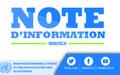 APPUIS MULTIFORMES DE LA MINUSCA AUX EFFORTS NATIONAUX CONTRE LE COVID–19