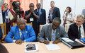 Signature d'un accord de DDRR entre le Gouvernement de Transition et les groupes armés
