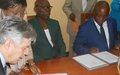 Signature d'un accord relatif à l'opérationnalisation de la Cour pénale spéciale de la RCA