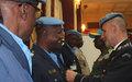 Douze policiers guinéens décorés pour leur contribution à la paix en Centrafrique