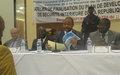Le Projet de renforcement des capacités et de développement des FSI remis au Gouvernement centrafricain