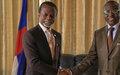 Le Représentant spécial rencontre le chef de la diplomatie centrafricaine