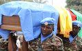 La MINUSCA rend les derniers honneurs au soldat  de première classe Ndongo Bernard Yannick