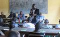 Les chefs de quartiers de Ndele et des localités voisines s'affutent pour contribuer au processus de paix.