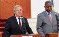 « Il y a une opportunité de construire une Centrafrique nouvelle en paix, en sécurité et prospère», selon le Secrétaire général de l'ONU