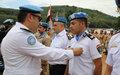 Le professionnalisme et l'intégrité des casques bleus égyptiens honorés