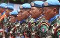 La MINUSCA honore 120 officiers népalais en fin de mission