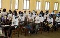 Engager activement les jeunes volontaires de la paix pour des élections paisibles