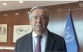 Message vidéo du Secrétaire Général au personnel sur le Covid-19