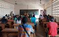 D'anciens membres des groupes d'autodéfense du Pk5 à l'école de l'éducation électorale