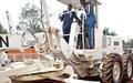 La MINUSCA et le Gouvernement lancent des travaux d'entretien routier à Bangui