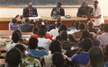 Le Représentant spécial à l'écoute des étudiants de l'Université de Bangui