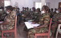 Female FACA personnel trained in securing the elections