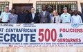 Formation de 500 policiers et gendarmes centrafricains : les outils pédagogiques en cours de validation